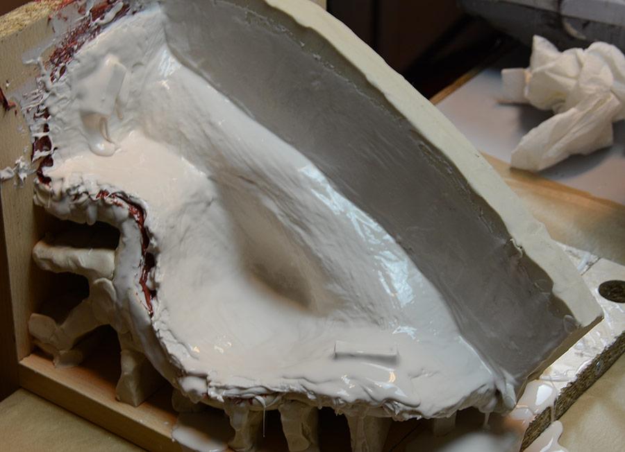 Couche 1 contre-moule en acrystal