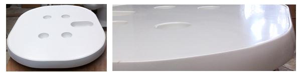 Table polyester bateau Cap Camarat
